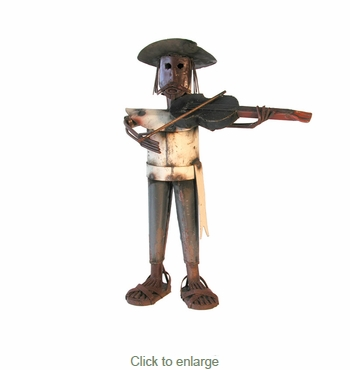 Rustic Iron Mariachi Sculptures