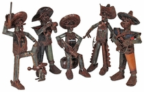 Rustic Iron Western Character Sculptures