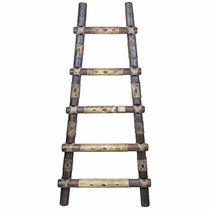 Rustic Kiva Ladders with Southwest Rawhide Wraps