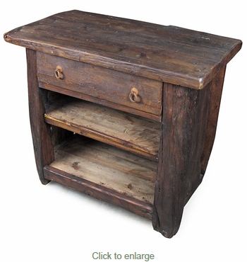 Rustic Mesquite Nightstand Or End Table