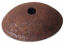 Rustic Metal Domed Back Plates - Per Dozen