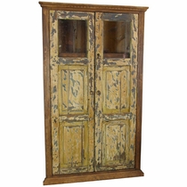 Rustic Old Door Corner Cabinet