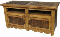 Rustic Old Wood Big Screen TV Stand