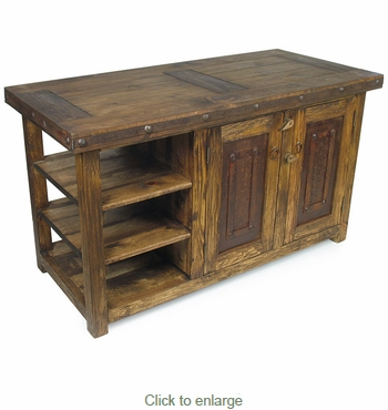 rustic old wood kitchen island with iron accents 20 insanely gorgeous upcycled kitchen island ideas