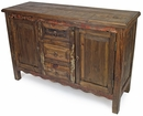 Rustic Old Wood Sideboard - 2 Door - 3 Drawer
