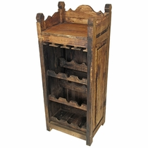 Rustic Old Wood Wine Rack