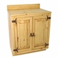 Rustic Pine Bathroom Vanity