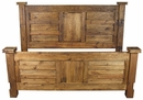 Rustic Pine Lodge Panel Bed - Queen or King