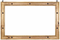 "Rustic Pine Studded Mirror Frame - 40"" x 24"""