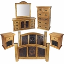 Rustic Pine Texas Lone Star 5-Piece Bedroom Set