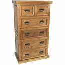Rustic Pine Texas Lone Star Chest of Drawers