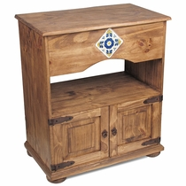 Rustic Pine Tile TV Stand