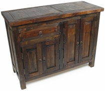 Rustic Reclaimed Wood Buffet with 4 Doors and 1 Drawer