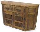 Rustic Reclaimed Wood Sideboard with Twig Doors