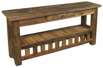 Rustic Southwest Old Wood Sofa Table