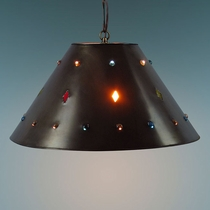 Rustic Tin & Marbles Hanging Lamp Shade