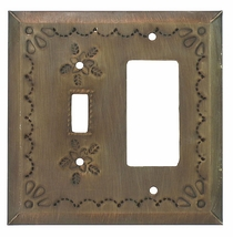 Rustic Tin Rocker Panel and Switch Cover - Star