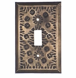 Rustic Tin Switch Plates - Flower Design