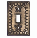 Rustic Tin Switchplates - Star Design