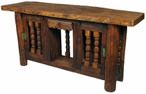 Rustic Turned Door Console Table
