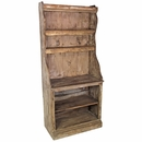 Rustic Wood Open Kitchen Hutch with Shelves