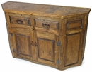 Rustic Wood Sideboard with Angled Front