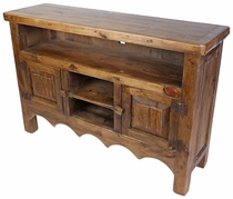 Rustic Wood TV Stand Entertainment Credenza