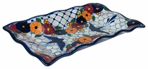 Scalloped Rectangular Talavera Appetizer plate