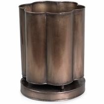 Scalloped Tin Waste Basket