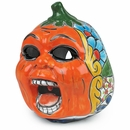 Screaming Talavera Pumpkin Jack-o-Lantern