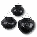 Set of 3 Oaxacan Black Clay Wall Vases