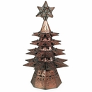 Small Aged Tin Star Lighted Christmas Tree with Marbles