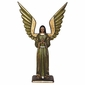 Small Carved Wood Standing Angel