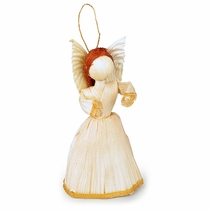 Small Corn Husk Angel Ornaments - Box of 6
