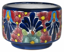 Small Cylindrical Talavera Flower Pot