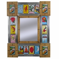 Small Loteria Mexican Folk Art Mirror