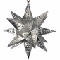 Small Natural Tin Star Light Fixture