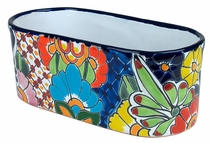 Small Oval Talavera Planter
