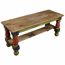 Small Painted Wood Bench or Coffee Table