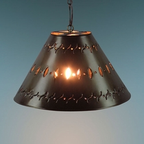 Small Punched Tin Hanging Lamp Shade