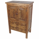 Small Rustic Old Wood Armoire - 2 Doors and 4 Drawers