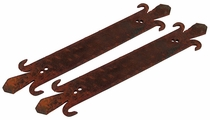 Small Rusty Iron Strap   - Set of 2