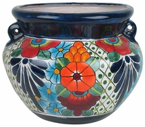 Small Talavera Handled Flower Pot