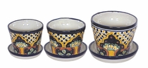 Small Talavera Pots and Plates - Set of 3