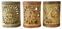 Southwest Painted Clay Wall Sconces