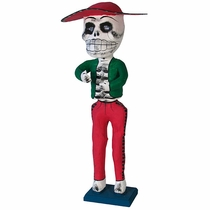 Standing Paper Mache Skeleton with Base