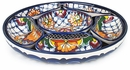 Talavera 7 Piece Appetizer Platter - Chip and Dip Tray