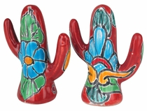 Talavera Cactus Salt & Pepper Shakers - Pair
