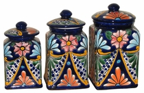 Talavera Canister Set - Square