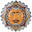 Talavera Framed Hanging Sun Face